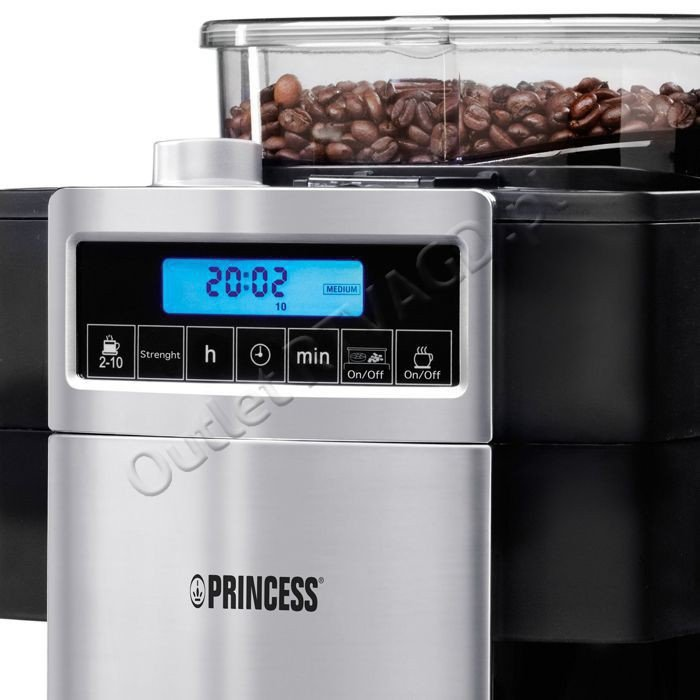 Princess Classic Coffee Maker And Grinder : Princess 01.249402.01.001 Coffee Maker and Grinder DeLuxe COFFEE MACHINES AUTOMATIC BEAN-TO ...