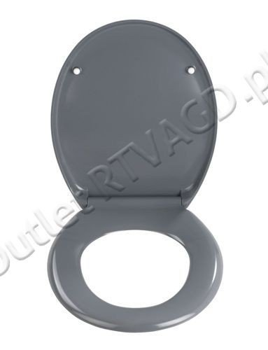 Wenko 19657100 Toilet Seat Premium Ottana Soft Close Stainless Steel Hygie